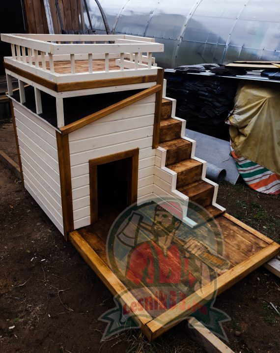 Будка для собак с балконом